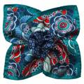 Floral Circle Turquoise